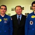Леонид Каденюк,Леонид Кучма и Ярослав Пустовой