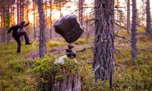 Майкл Граб - уравновешивание камней. Композиции из камня