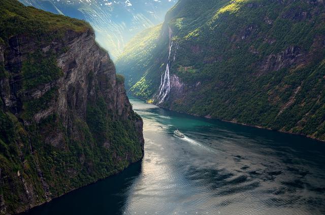 Geirangerfjord в Западной Норвегии.