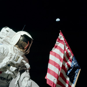 Последний из 12 ступавших на лунную поверхность человек Джек Шмитт. Фото: NASA
