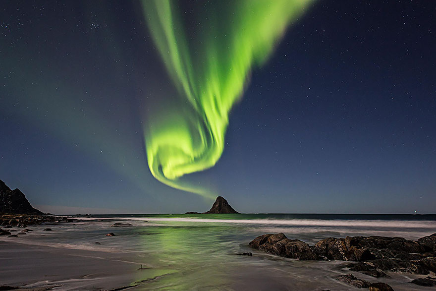 Северное сияние над Блейк, Норвегия