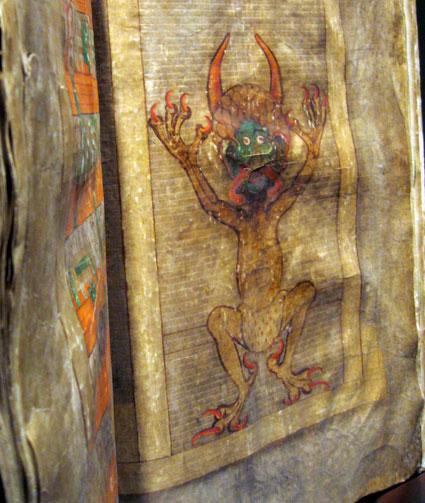 Рисунок, изображающий Сатану (Библия дьявола) © MHP