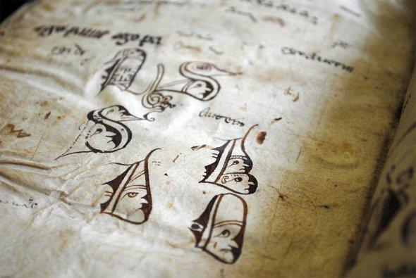 Лейден, университетская библиотека, рисунки 14-го века.