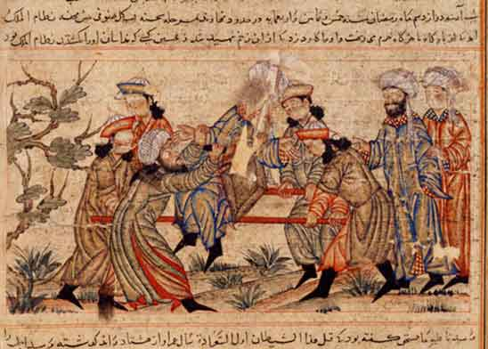 Убийство Низамаль - Мулька ассасином. Источник фото: Википедия.