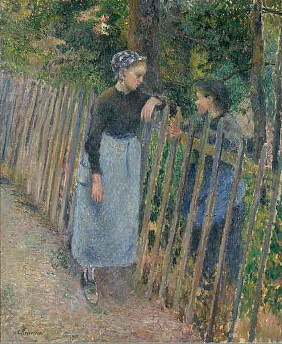 Разговор (1881 г.) Камиль Писсарро