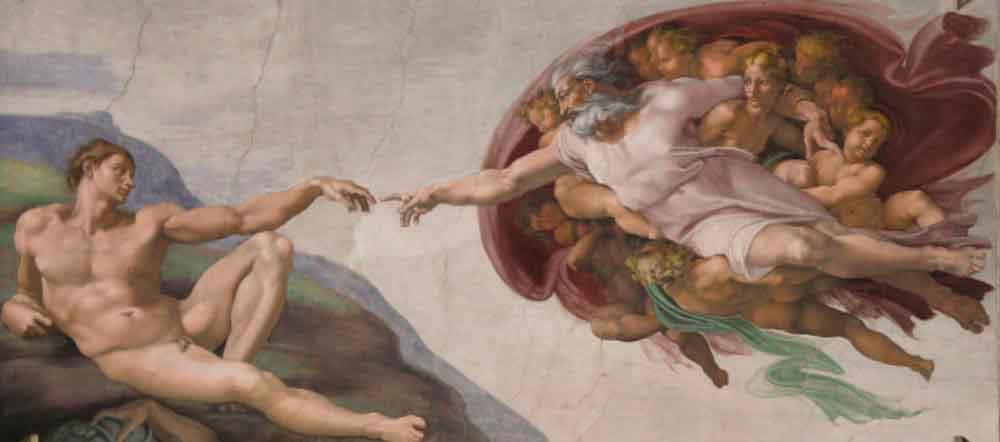 Сотворение Адама (1511 г.), Микеланджело
