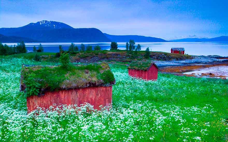Старая деревня в Норвегии