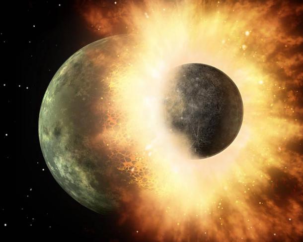 Столкновение планет.