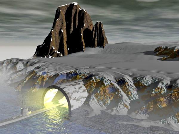 Станция 211 - база нацистов в Антарктиде (изображение взято с сайта futuresbeginning.com)