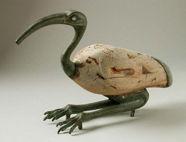 Тота часто изображали в виде ибиса. Египет, Позднее Царство, 712-332 до н.э. (Общественное Достояние)
