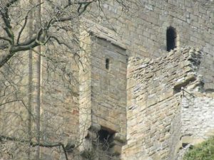 Уборная замка Peveril, Дербишир, Англия. (Общественное достояние)